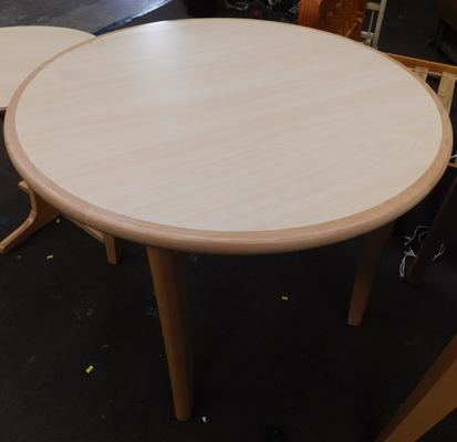 Large circular dining table, new, unused