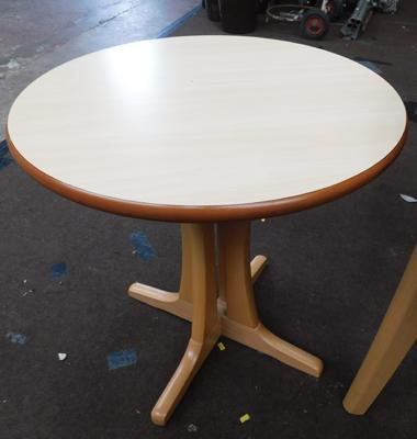Small circular occasional table, new unused
