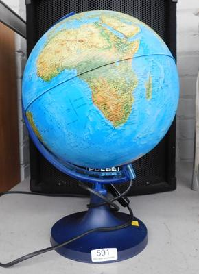 Light up globe lamp