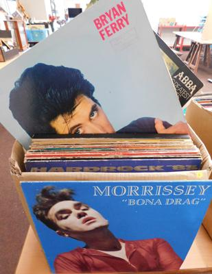 Box of mixed LPs and 12inch singles - 60s/70s/80s