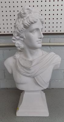 "Ceramic Bust of Greek Emperor (18"" tall) from film set of Victoria, Filmed at Wentworth"