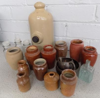 Old pots-stoneware , vintage waterbottle