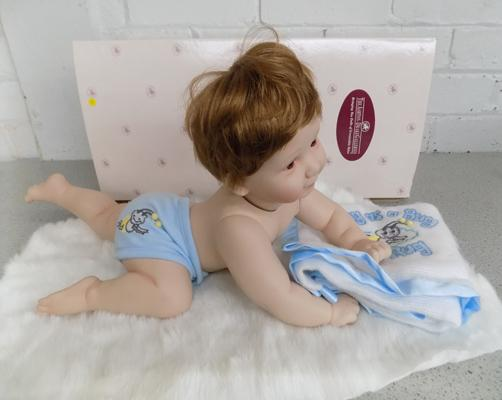 Ashton Drake galleries, boxed, large scale baby doll with accessories, jointed limbs & head