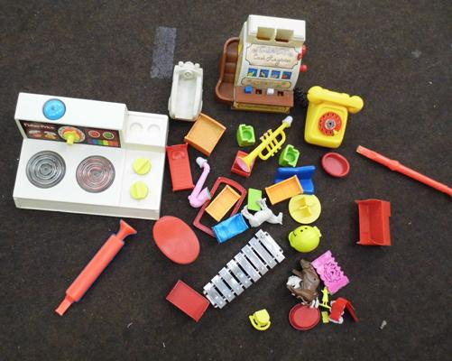 Childrens vintage play toys