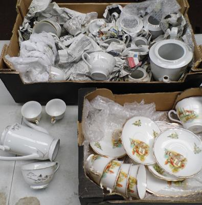 2x Boxes of china part tea sets