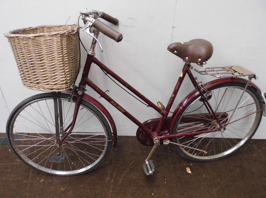 Raleigh ladies push bike with basket