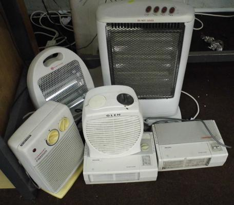 Selection of fan heaters