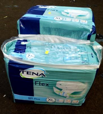 3 packs of Tena Pads - Size XL (90 pads in total)