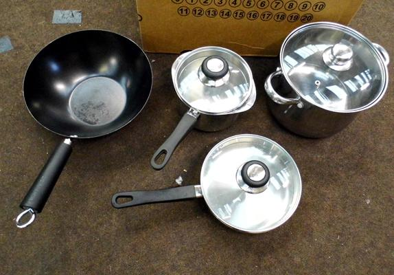 4 x cooking pots