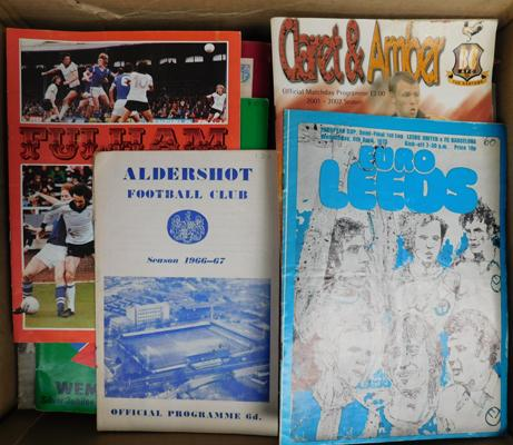 Large box of football programmes-mainly Bradford City 1970s onwards