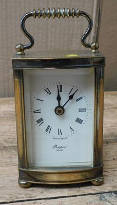 Heavy solid brass carriage clock