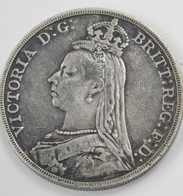 1892 five shilling coin