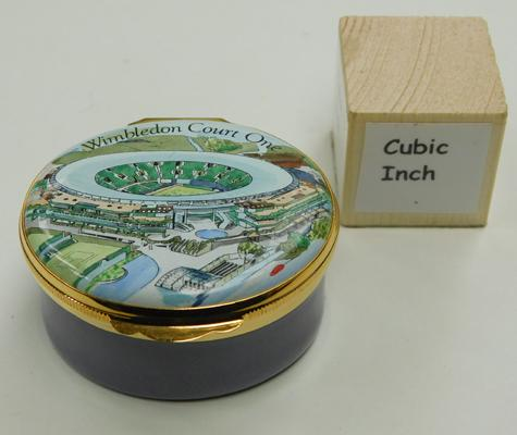 Boxed Crummles English enamels trinket box, scarce, limited edition, 500, Wimbledon Court