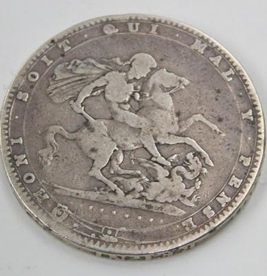 1820 George III, 5 shilling coin