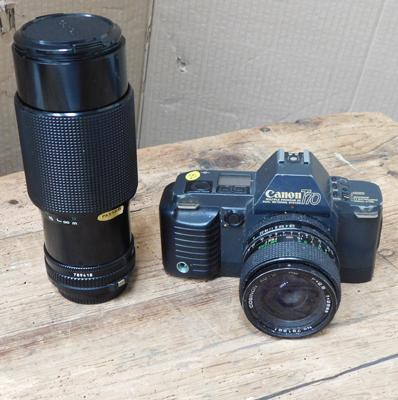 Canon T70 camera and Canon tele lens 70-210mm