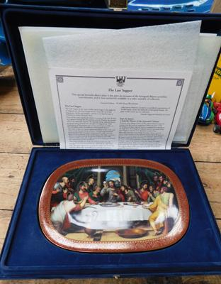 Bradford Exchange The Last Supper plate in presentation box with paperwork