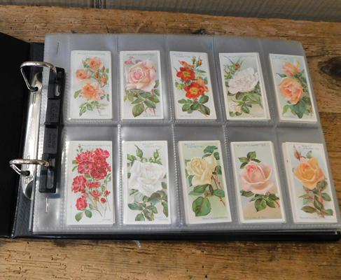 Album of Wills cigarette cards, Roses 1st & 2nd series + 1914 Zoo studies & wild birds at home