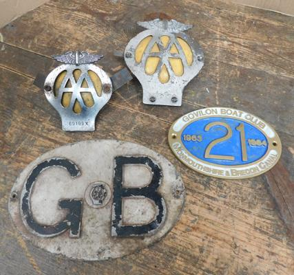Collectable car/boat badges