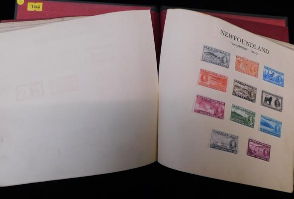 Album containing sets of stamps from 1937 Coronation