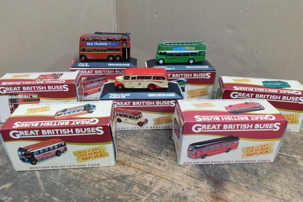 Collection of Atlas edition boxed diecast buses