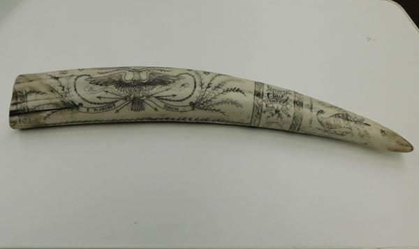 Large reproduction Scrimshaw The Ships, Tempest