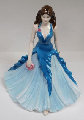 Large Coalport figurine, Ladies of Fashion, Happy Birthday 2005 - few nibbles to base of dress
