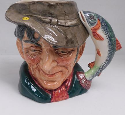 Large Royal Doulton character jug The Poacher, D6429, approx. 7 inches high, no damage found