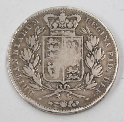 1845 five shilling coin