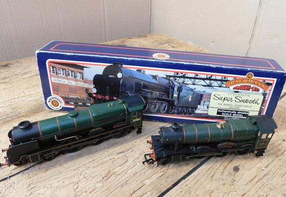 Bachmann Lord Anson-green (no tender) + box and 1 other-Jmpney Hall 6951