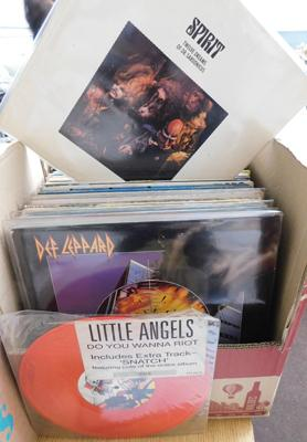 Over 60 LPs & 12 inch singles, incl. Spirit, Byrds, Poison, Rascals, BB King