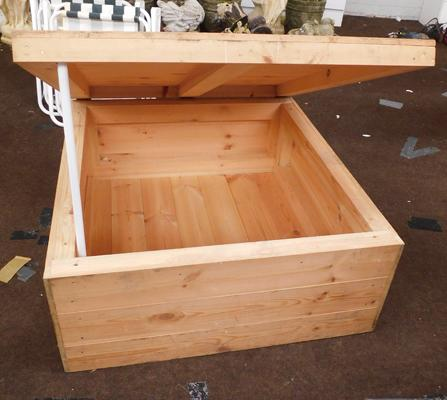 Pine storage box - ideal for toys - approx. 36 x 33 x 15 inches