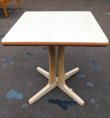 New/unused, square occasional table