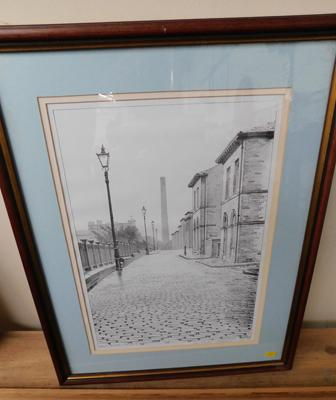 Stuart Hirst Saltaire in the Snow, framed print