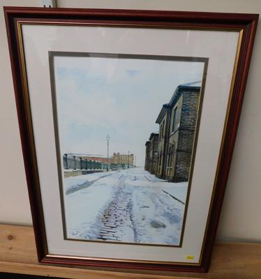 Signed Stuart Hirst Saltaire print, 1991, pencil, signed 1994