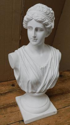 "Bust of Greek Empress (18"" tall) from film set of Victoria - filmed at Wentworth Woodhouse"