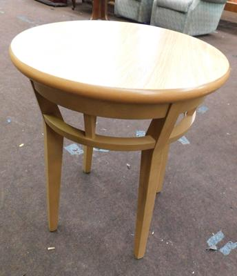 New/unused, small circular occasional table