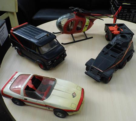 Selection of 1980s A.Team vehicles