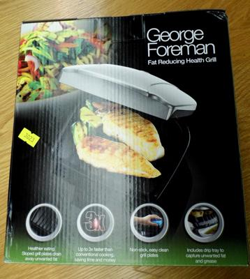 George Foreman fat reducing health grill - new and boxed W/O