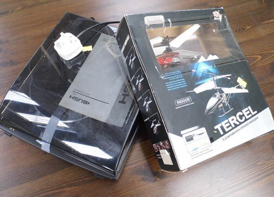 Bush record player & Tercel helicopter-boxed - both unchecked