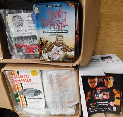 Large assortment of Bradford Northern & Bradford Bulls rugby programmes - 1966 onwards