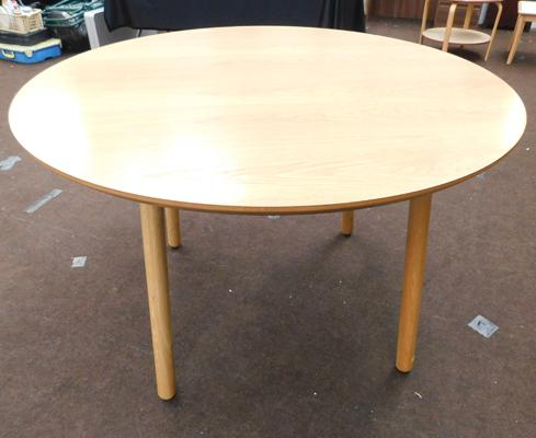 New/unused circular dining table - approx. 48 inches in diameter