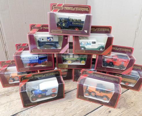 12x Matchbox models of Yesteryear