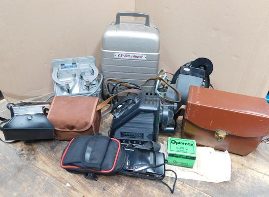 Collection of cameras, services, mini cams & projector