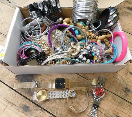 Assortment of costume jewellery inc watches
