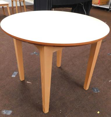 New/unused circular dining table - approx. 36 inches in diameter