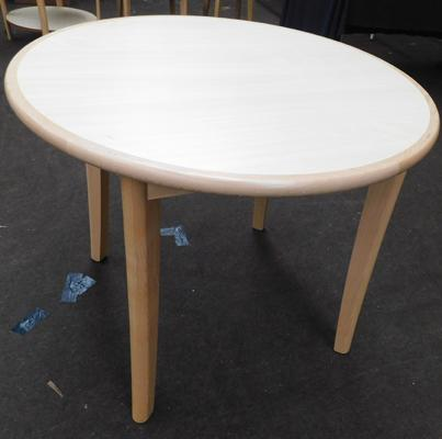 New/unused circular dining table - approx. 37 inches in diameter