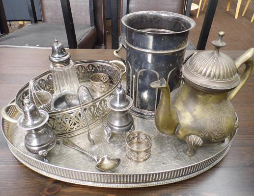 Quantity of silver plated ware