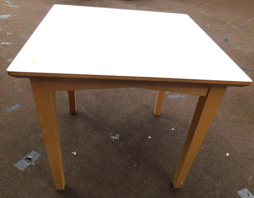 New/unused cream topped dining table - 32 x 32 inches