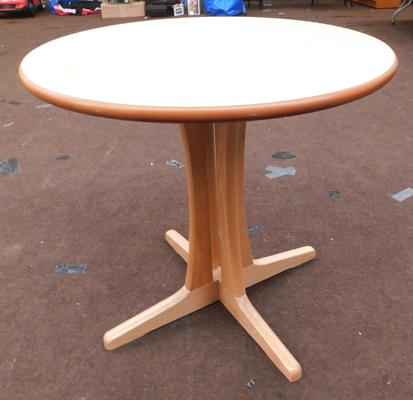 New/unused circular dining table - approx. 31 inches in diameter