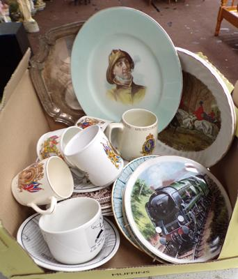 Assortment of plates/ trays and mugs